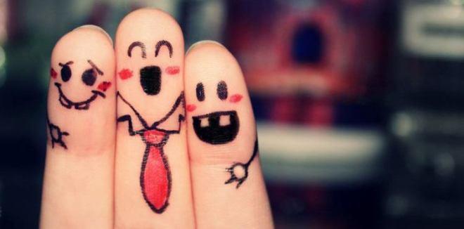 happy finger drawings