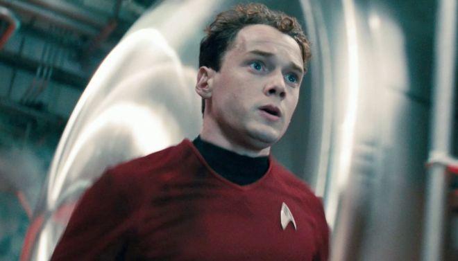 Chekov in red shirt