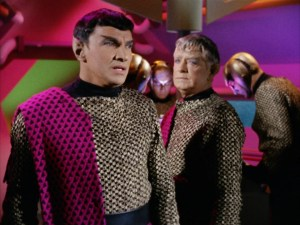 "Romulan Commander and Centurion in ""Balance of Terror"""