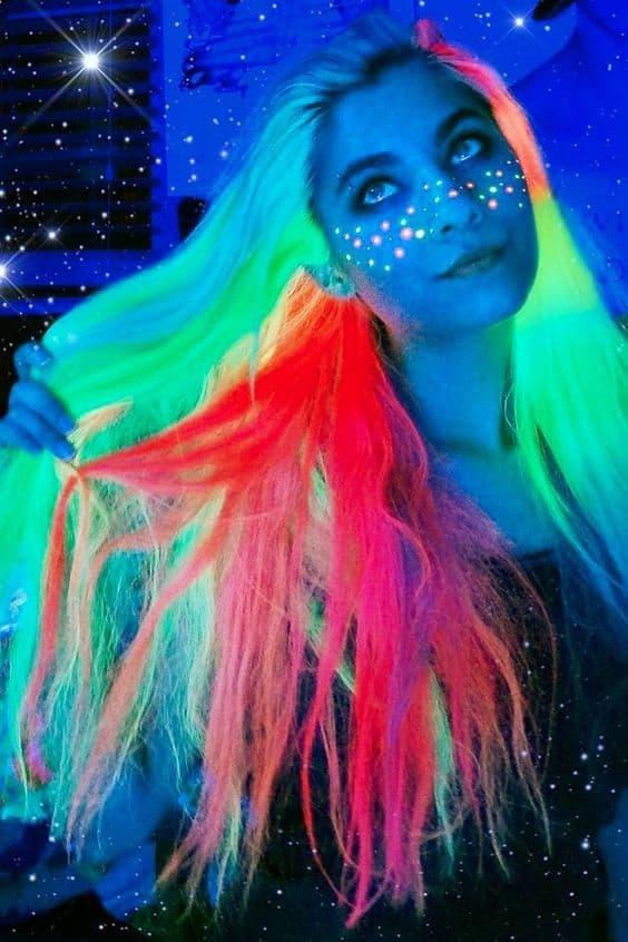 Glow In The Dark Unicorn Hair Color Ideas