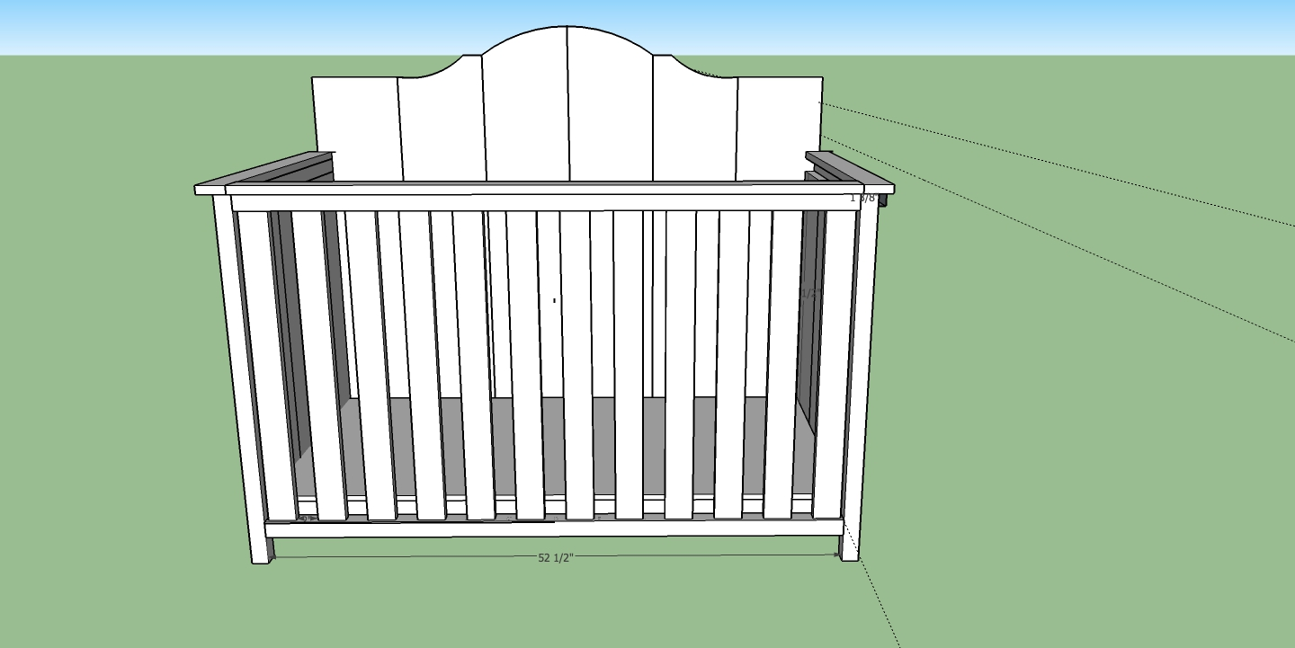 82 Building A Crib Plans Covertable Crib Juvenile Gold 4 In 1 Convertible Diy Baby With