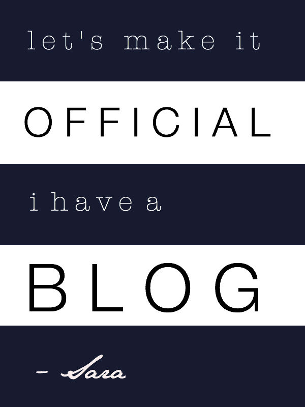 Let's Make it Official: I Have a Blog