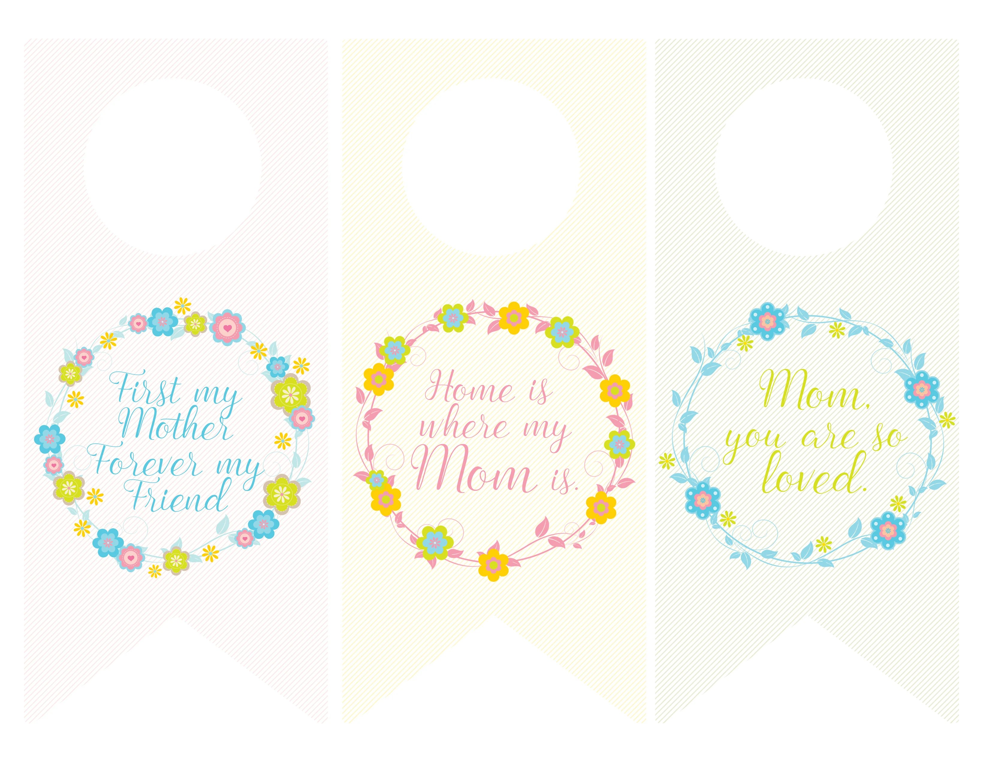 Mothers Day Wine Bottle Tags And Greeting Cards FREE