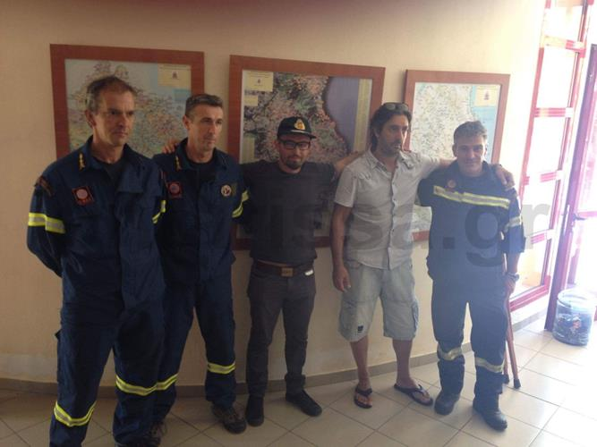 """""""Όταν τον βρήκαμε κλαίγαμε και οι τρεις μας"""": Συγκίνηση στην 8η ΕΜΑΚ κατά την επίσκεψη του Ρουμάνου που χάθηκε στον Όλυμπο (φωτό)"""