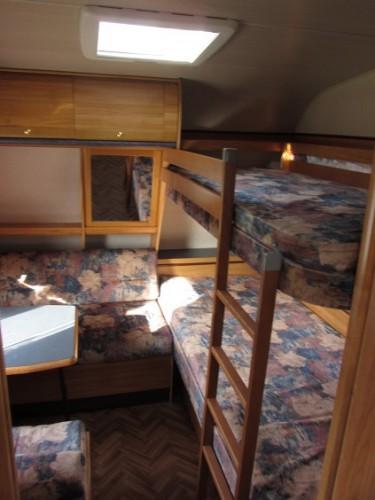 Wohnwagen Wilk 560 Kinderzimmer Etagenbett