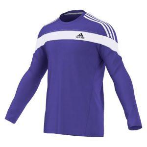 Adidas Response ClimaLite hardloopshirt LM heren paars/wit