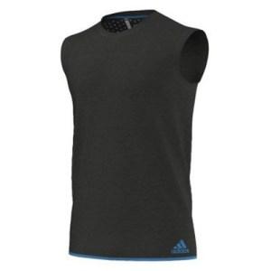 Adidas Climachill singlet antraciet/blauw heren