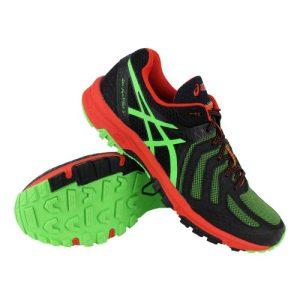 Asics Gel-FujiAttack 5 trail runningschoenen heren zwart/groen/rood