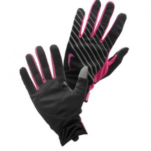 Nike hardloophandschoenen met smartphone-touch zwart/roze