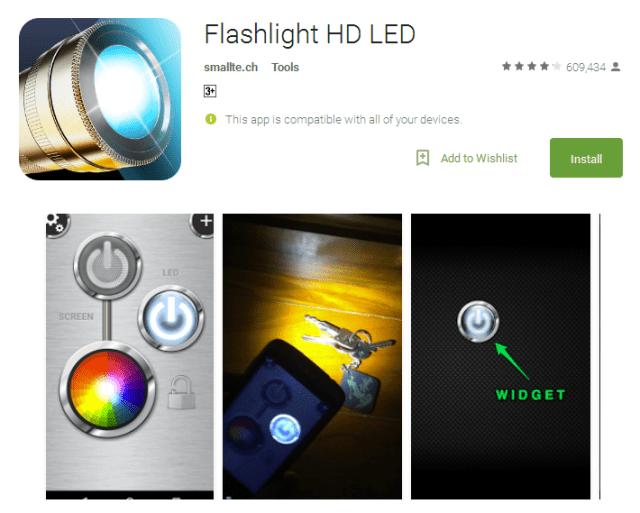 Flashlight HD LED torch app