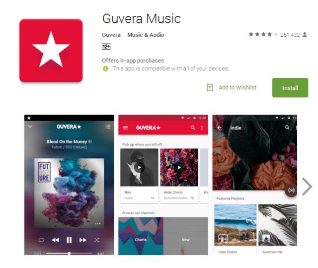 Guvera Music music streaming
