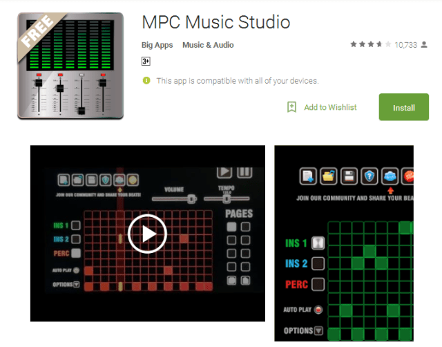 MPC Music Studio Android Apps