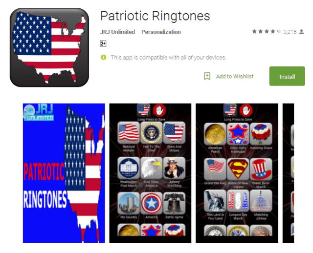 Patriotic Ringtones Android Apps