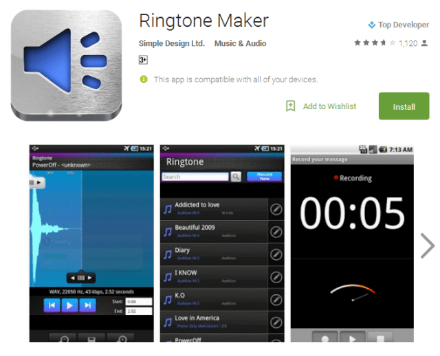 Ringtone Maker Android Apps