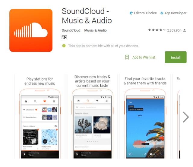 SoundCloud free music listening app