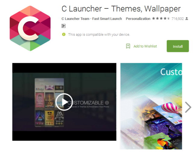 C Launcher free for android