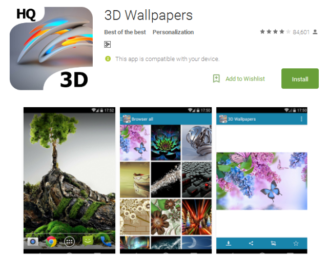 3D Wallpapers Android Apps