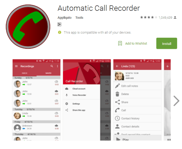 Automatic Call Recorder Android Apps