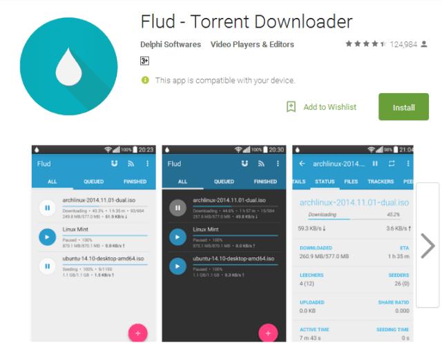 Flud Torrent Downloader Android Apps