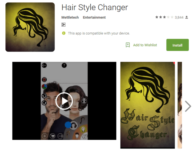 Hair Style Changer Android App