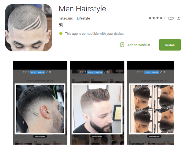 Men Hairstyle Android App