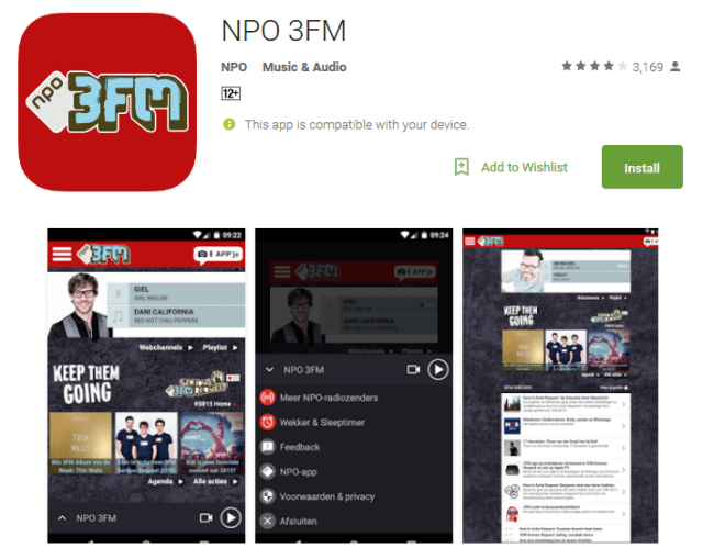 NPO 3FM Android Apps