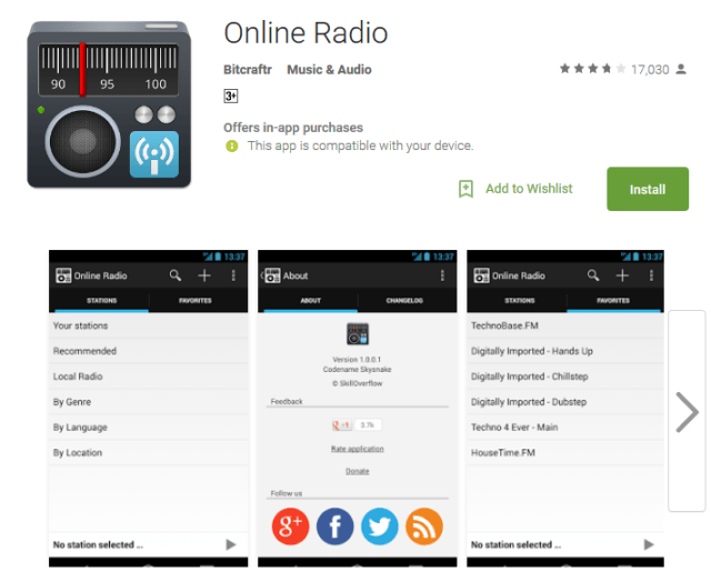 Online Radio Android Apps