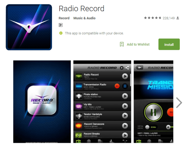 Radio Record Android Apps