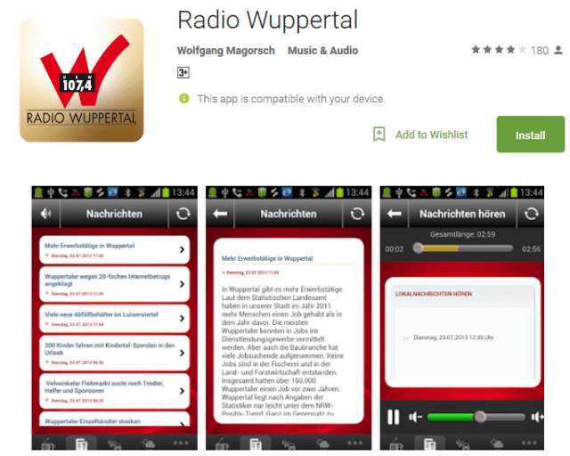 Radio Wuppertal Android Apps