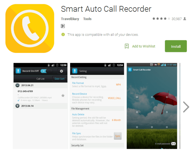 Smart Auto Call Recorder Android Apps