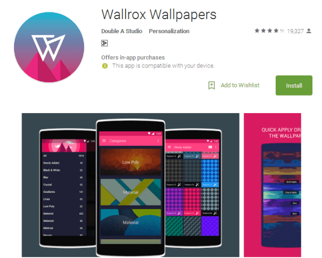 Wallrox Wallpapers Android Apps