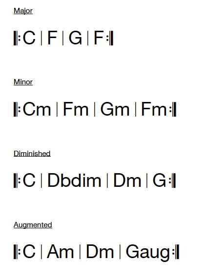 Triad Bass Guitar Examples