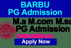 BRABU Pg Admission 2021