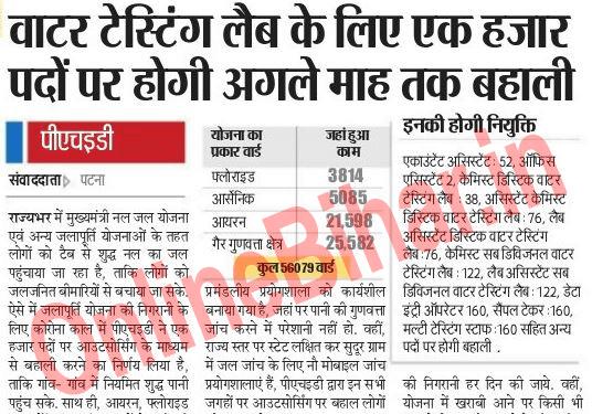 Bihar Nal Jal Yojana Vacancy 2021 copy