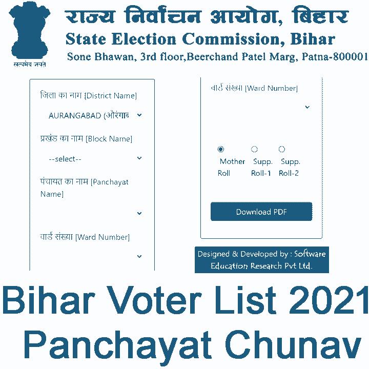 Bihar Voter List 2021 Panchayat Chunav