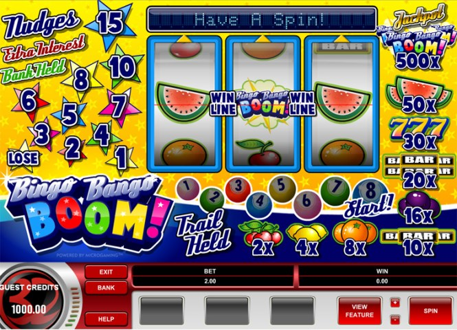Bingo Bango Boom Fruit Machine  Slots Games   Online Bingo Lady Colourful fruit machine game Bingo Bango Boom