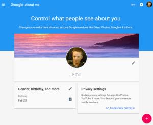 Noua pagina de la Google