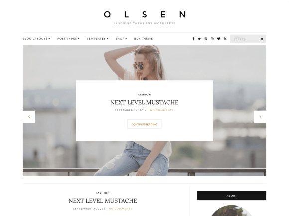 Olsen Fashion WordPress Theme