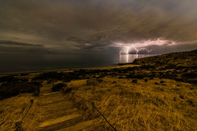 Sugarloaf Lightning by Student Tim Day