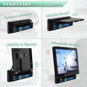 Pyle PLSD131BT 131'' Motorized TFTLCD Touch Screen Detachable Display Multimedia DiscVCDCD