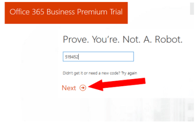 create account with office 365