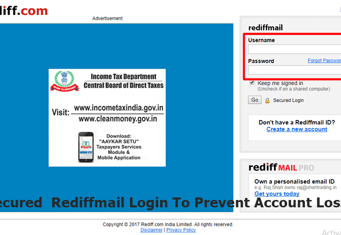 rediffmail sign in