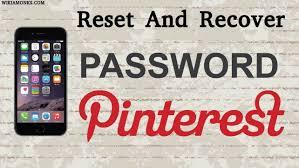 Pinterest password