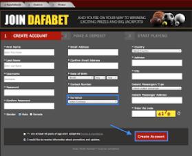 Dafabet sign up