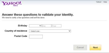 Yahoo password