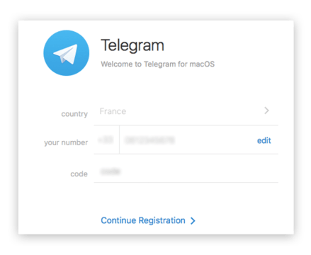 Telegram account mobile