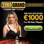 Eurogrand Casino Welcome Bonus