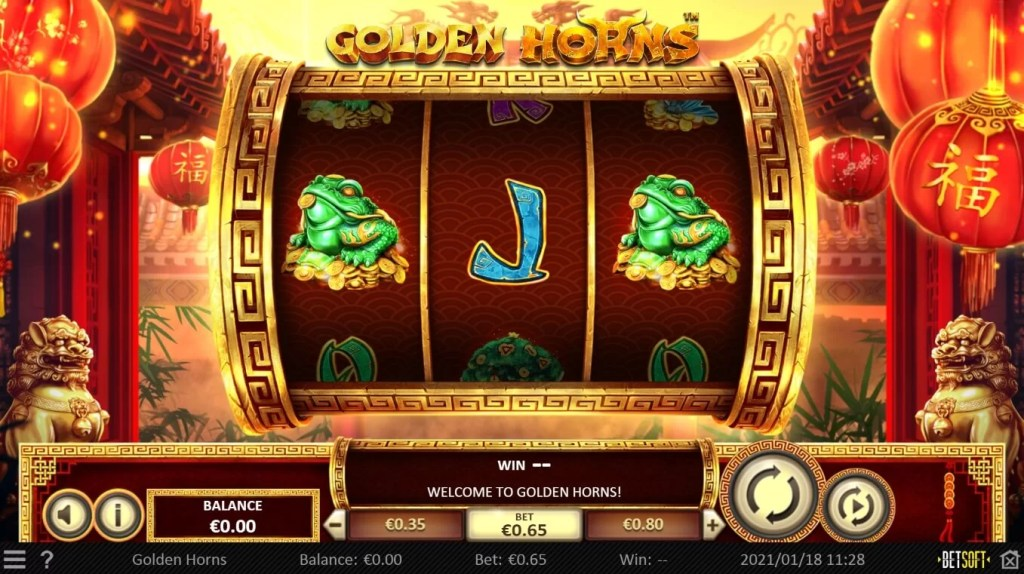 Speel Golden Horns bij Spinia Casino