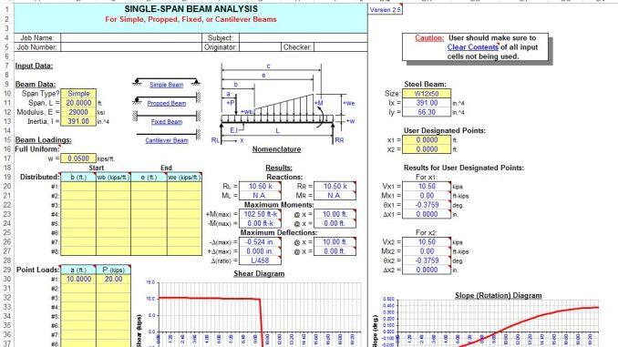Single and ContinuousSpan Beam Analysis worksheet Online Civil – Inertia Worksheet
