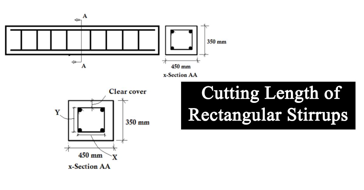 Calculation of Cutting Length for Rectangular Stirrups